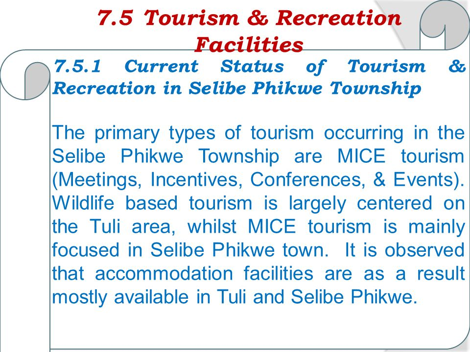 7.5 Tourism & Recreation Facilities