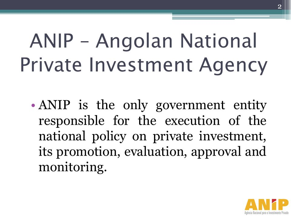 ANIP – Angolan National Private Investment Agency