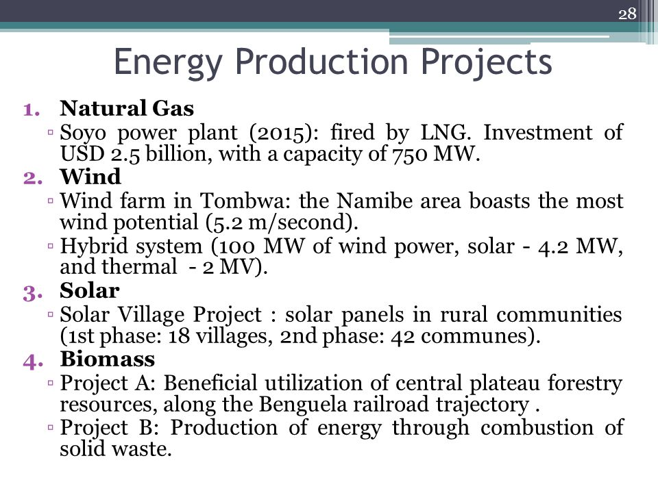 Energy Production Projects