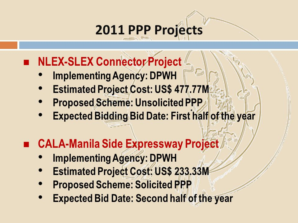 2011 PPP Projects NLEX-SLEX Connector Project