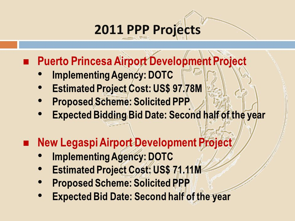 2011 PPP Projects Puerto Princesa Airport Development Project