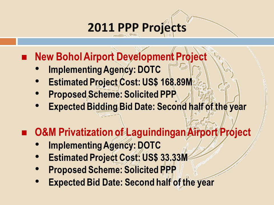 2011 PPP Projects New Bohol Airport Development Project