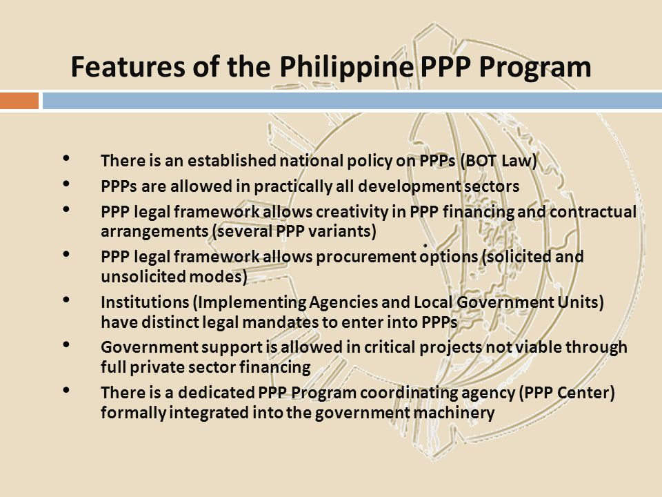 Features of the Philippine PPP Program