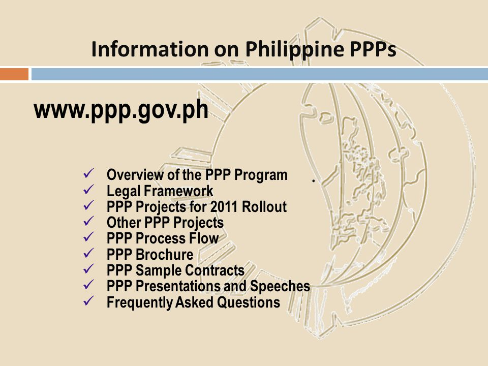 Information on Philippine PPPs
