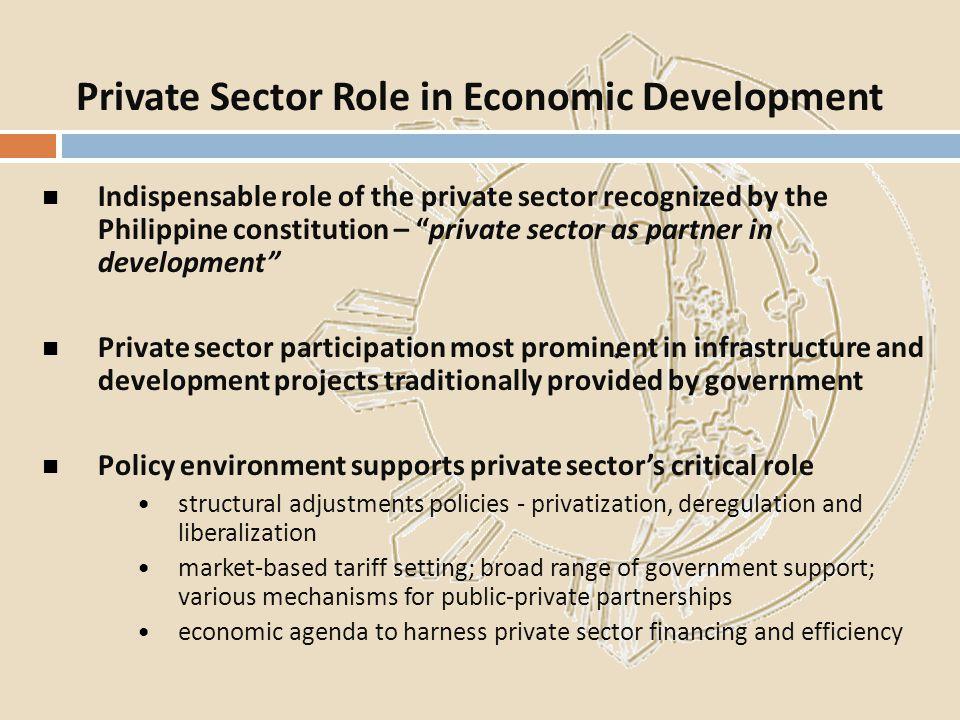 Private Sector Role in Economic Development