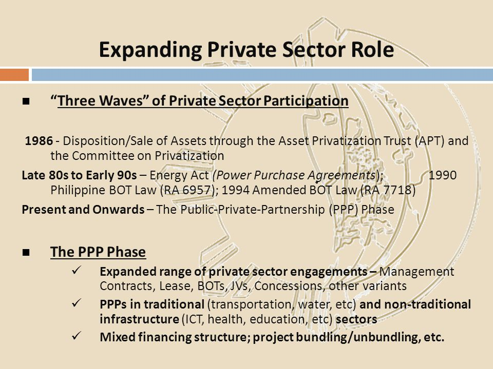 Expanding Private Sector Role