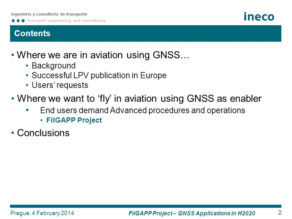 FilGAPP Project – GNSS Applications in H2020