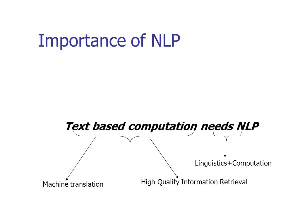 Text based computation needs NLP
