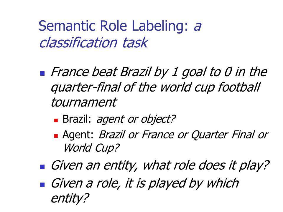 Semantic Role Labeling: a classification task