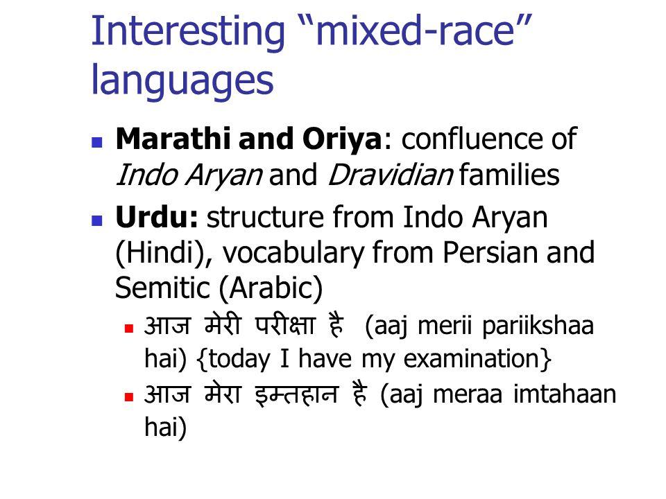 Interesting mixed-race languages