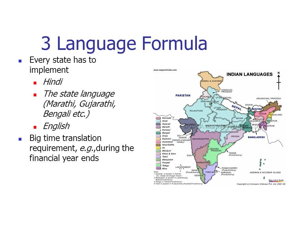 3 Language Formula Every state has to implement Hindi