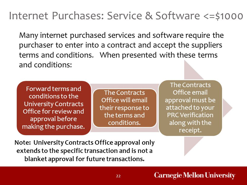 Internet Purchases: Service & Software <=$1000