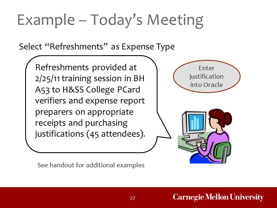 Example – Today's Meeting