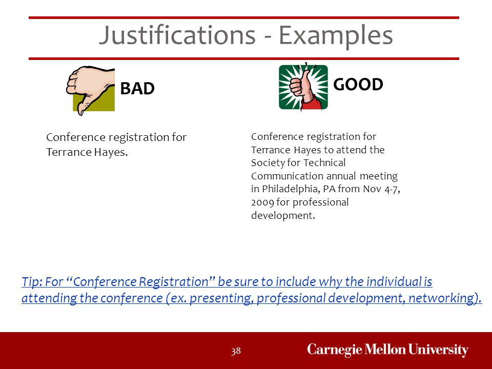 Justifications - Examples