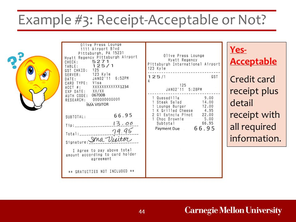 Example #3: Receipt-Acceptable or Not