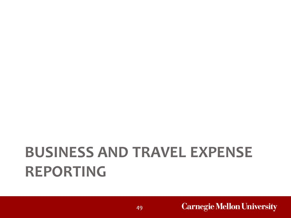 Business and Travel Expense Reporting