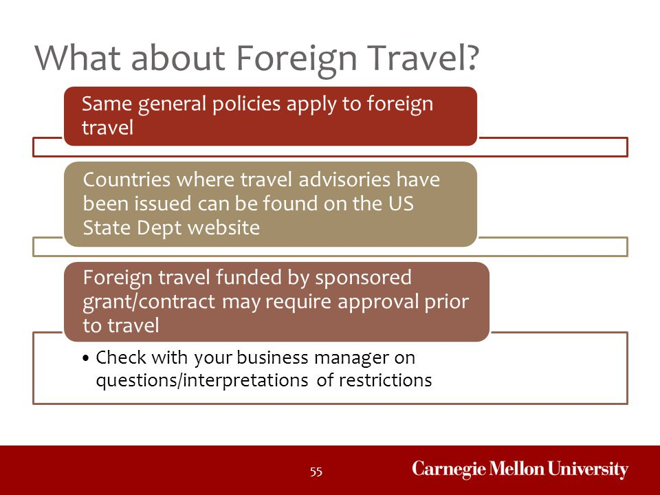 What about Foreign Travel