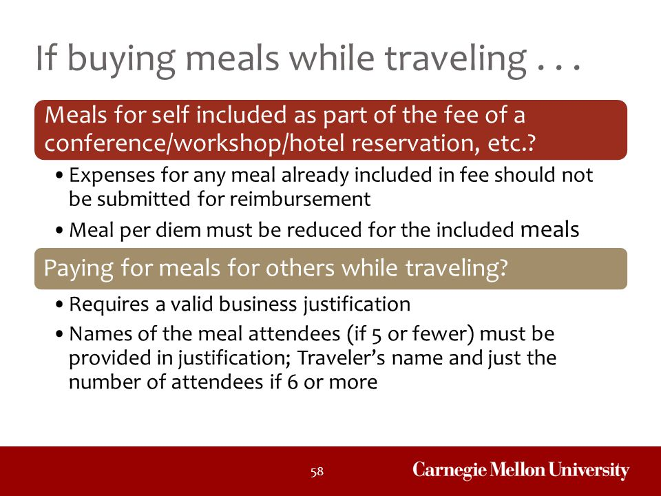 If buying meals while traveling . . .