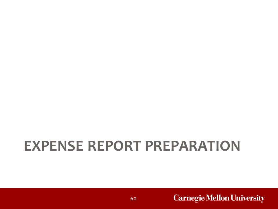 Expense Report Preparation