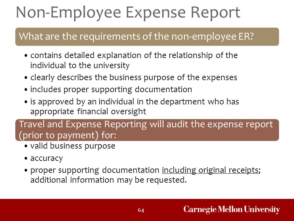 Non-Employee Expense Report
