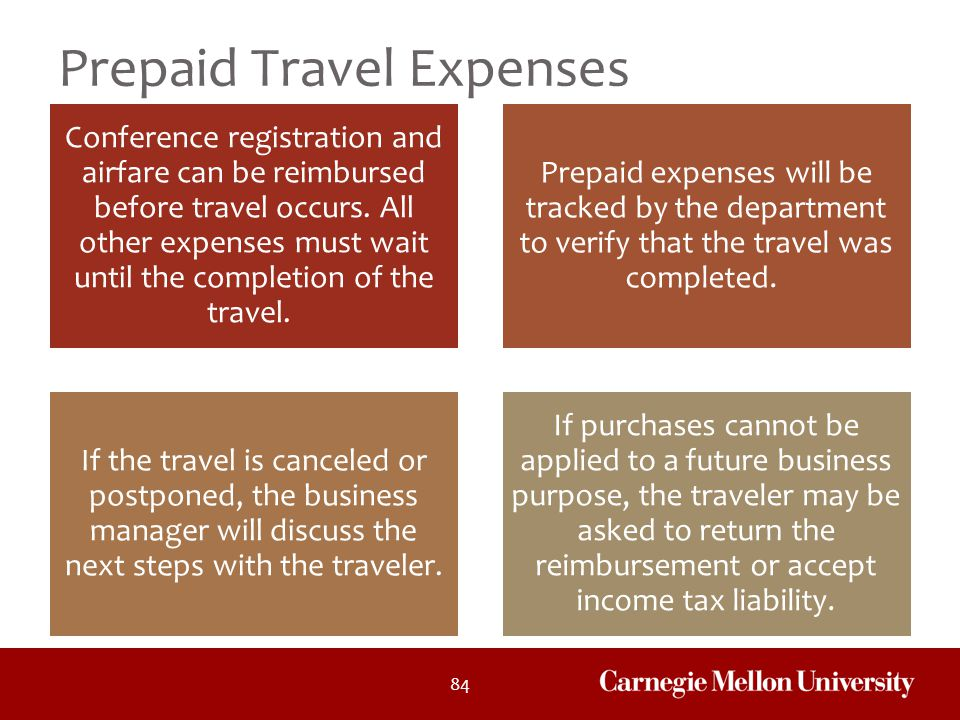 Prepaid Travel Expenses