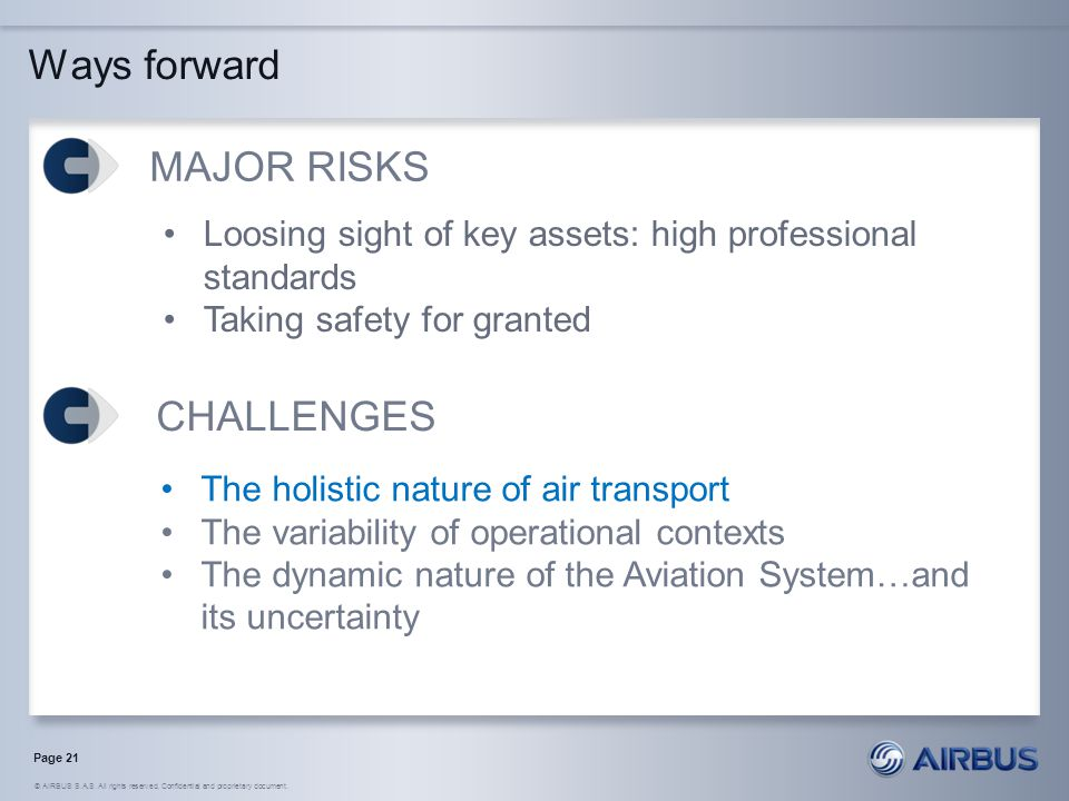Ways forward MAJOR RISKS CHALLENGES