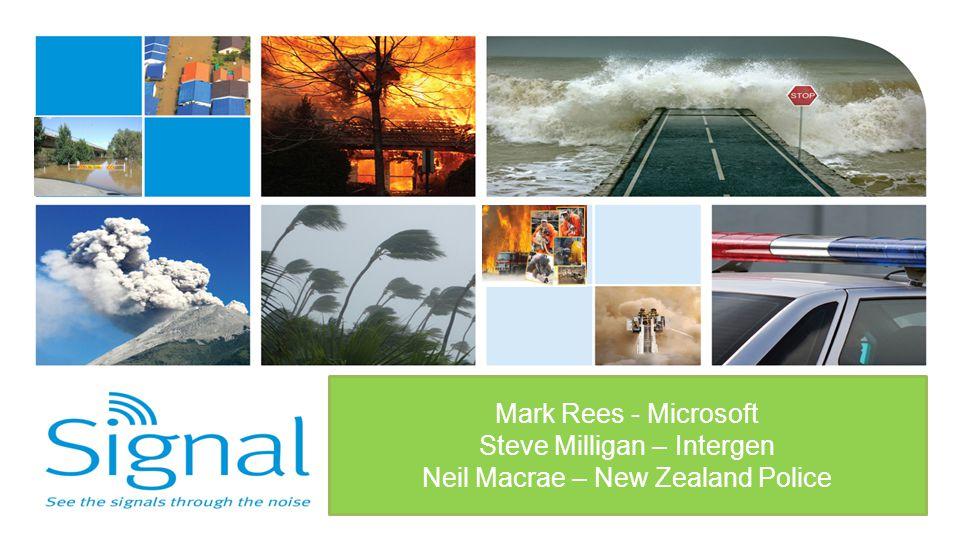 Steve Milligan – Intergen Neil Macrae – New Zealand Police