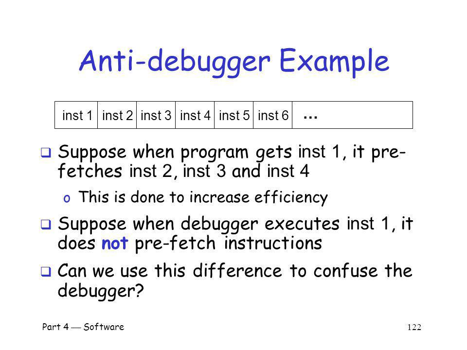 Anti-debugger Example