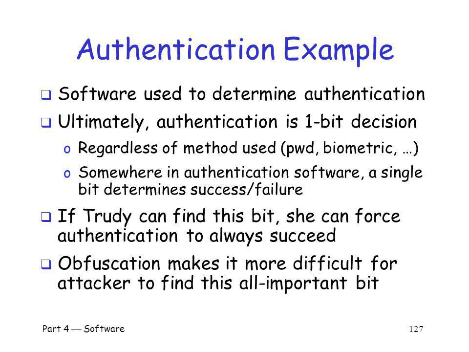 Authentication Example