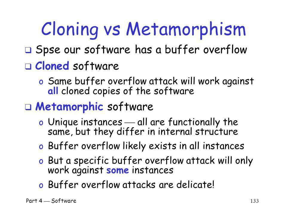 Cloning vs Metamorphism
