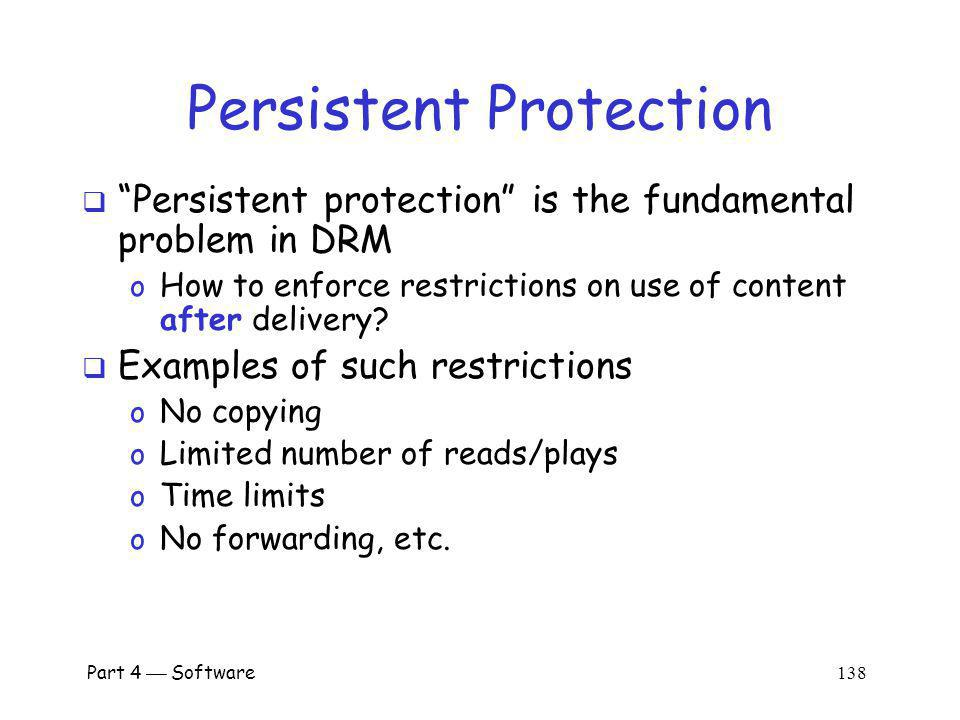 Persistent Protection