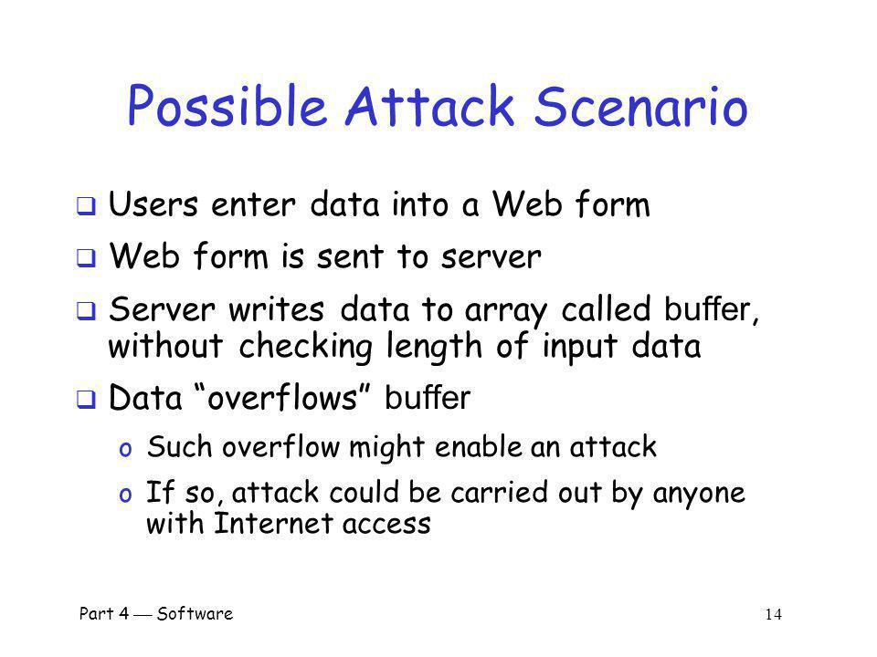 Possible Attack Scenario