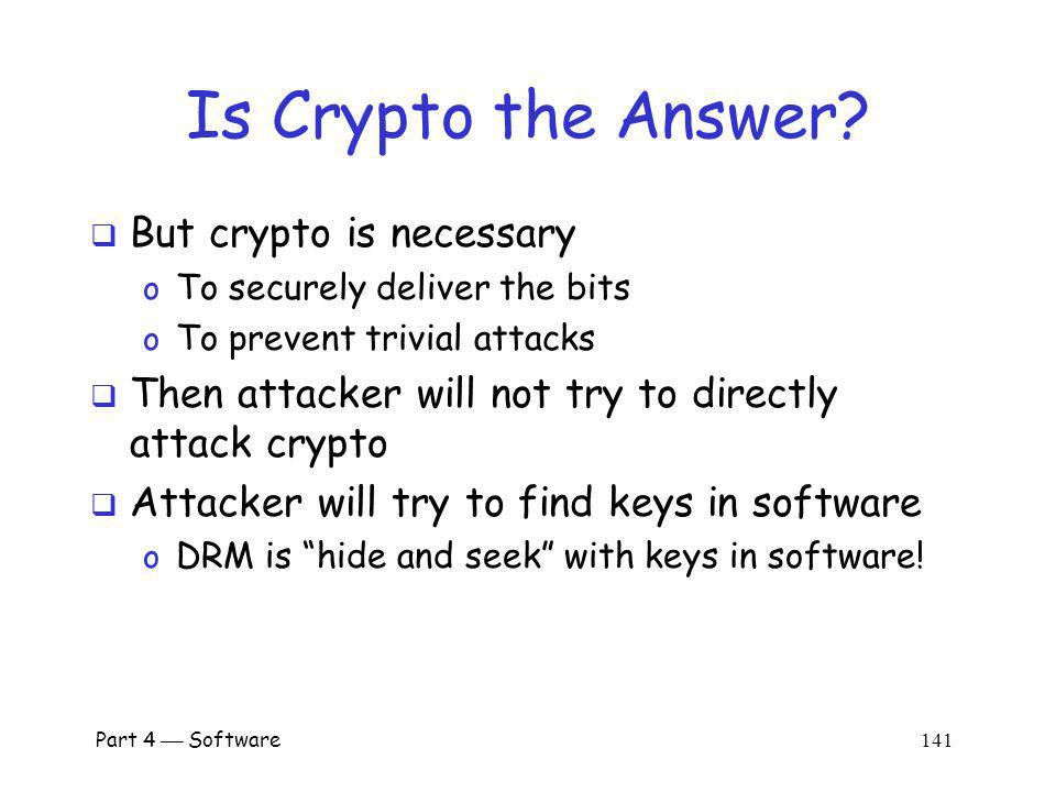 Is Crypto the Answer But crypto is necessary