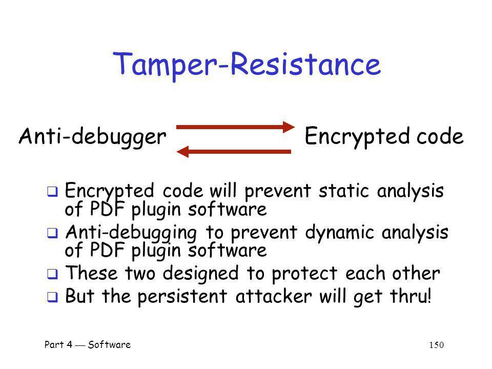 Tamper-Resistance Encrypted code Anti-debugger