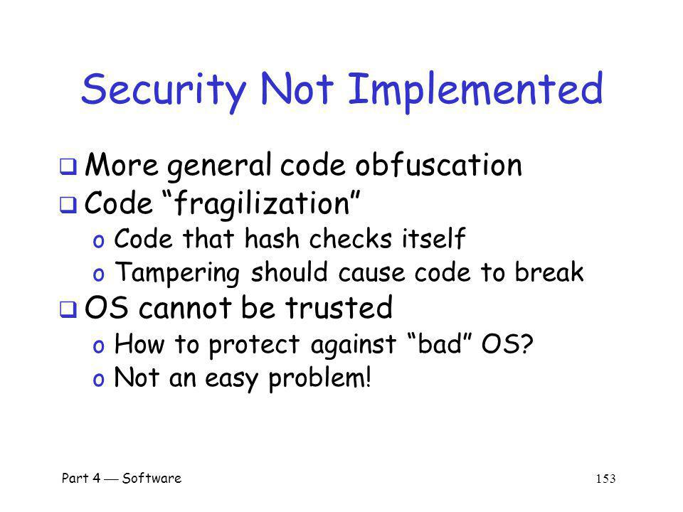 Security Not Implemented