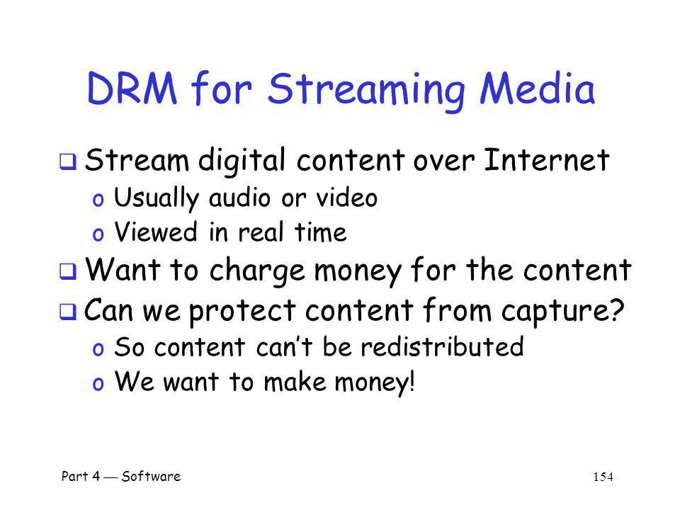 DRM for Streaming Media