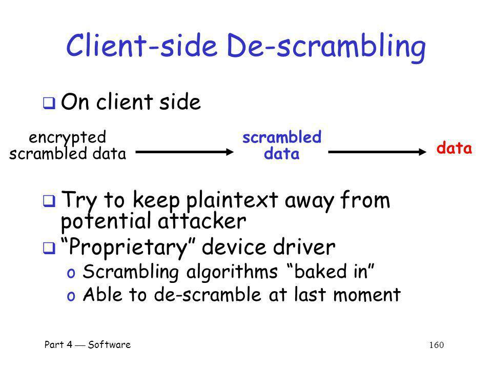 Client-side De-scrambling