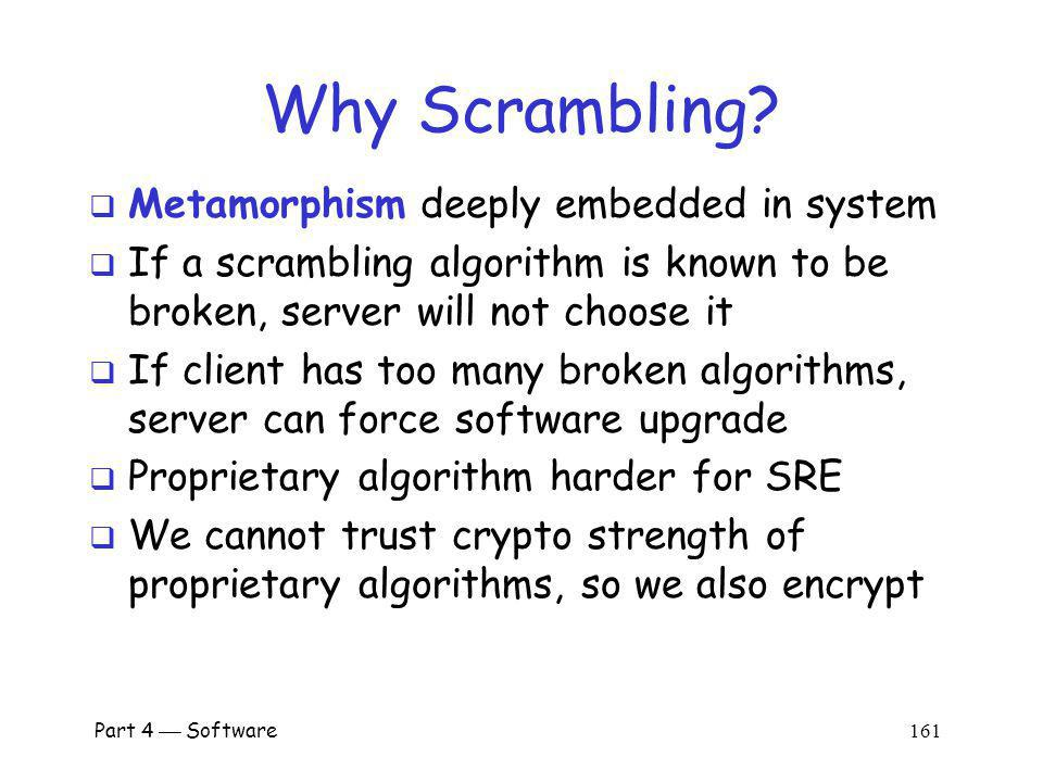 Why Scrambling Metamorphism deeply embedded in system