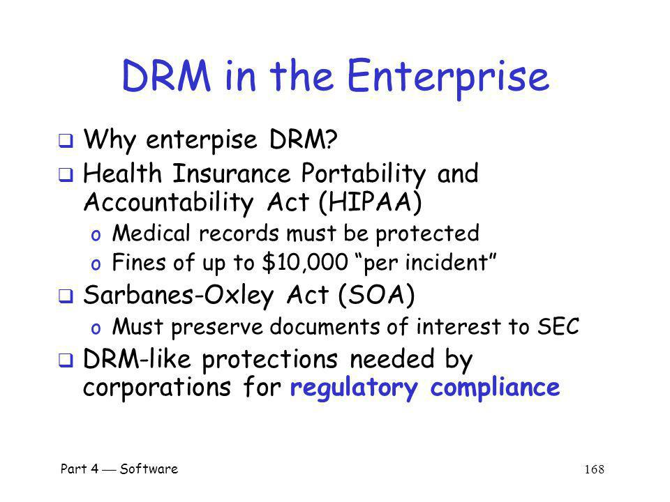 DRM in the Enterprise Why enterpise DRM