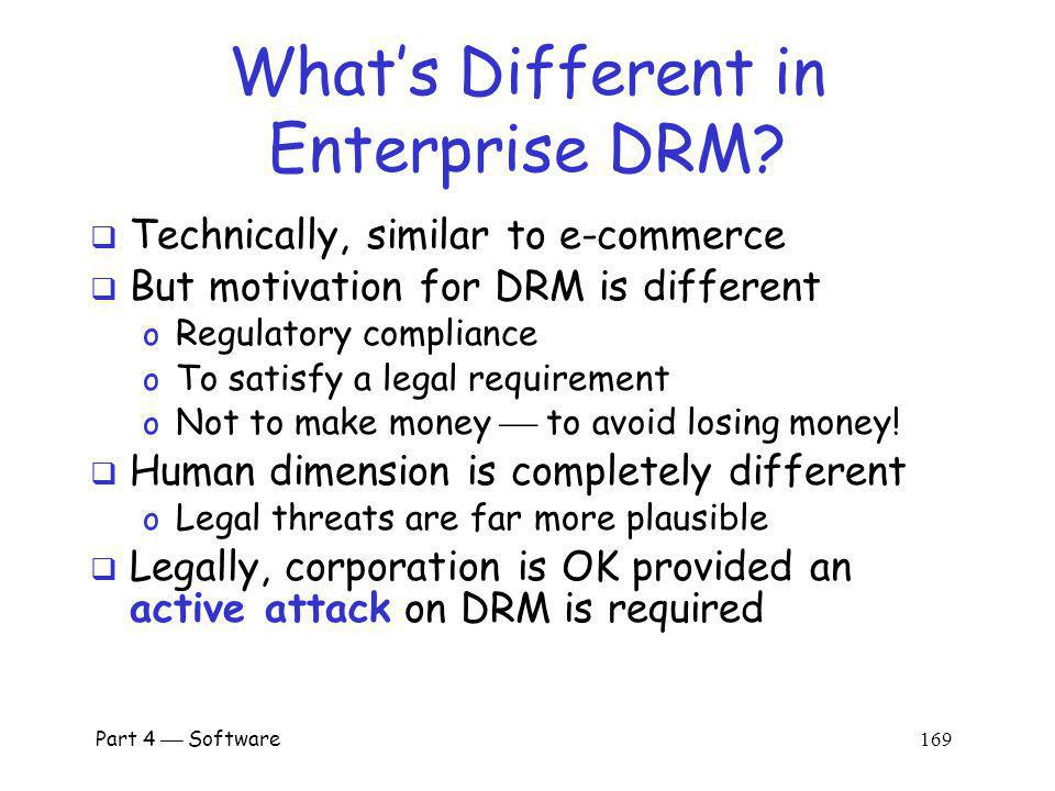 What's Different in Enterprise DRM