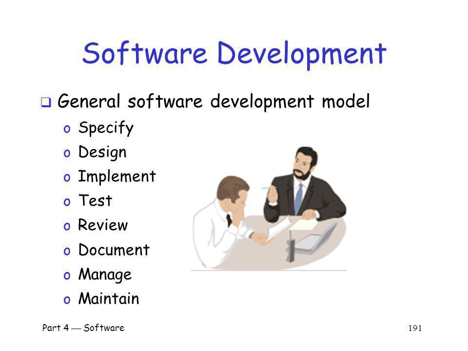 Software Development General software development model Specify Design