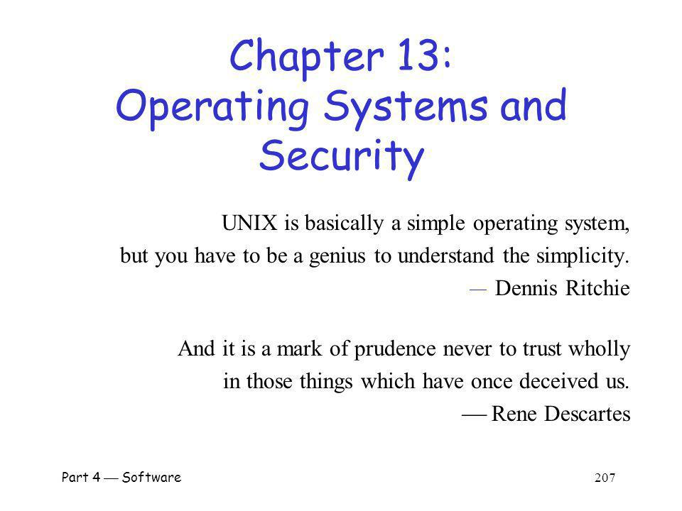 Chapter 13: Operating Systems and Security