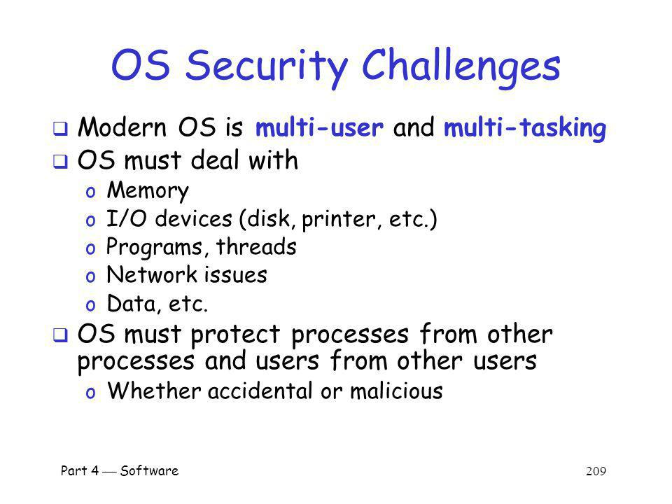 OS Security Challenges
