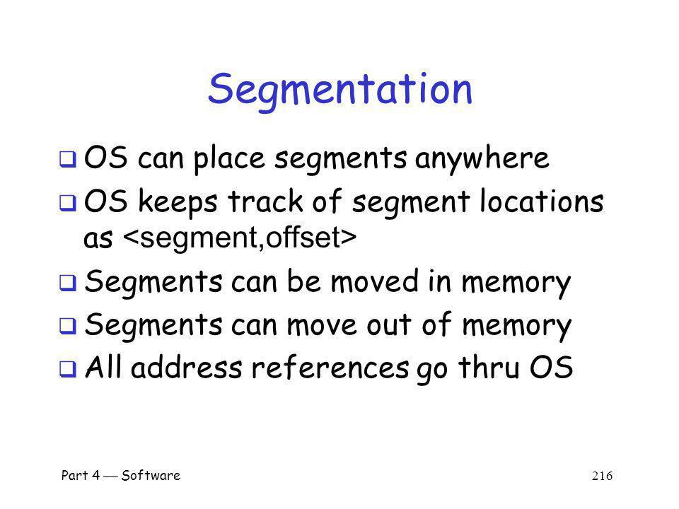 Segmentation OS can place segments anywhere