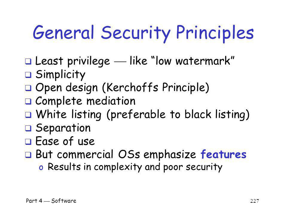 General Security Principles
