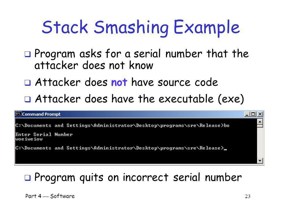 Stack Smashing Example