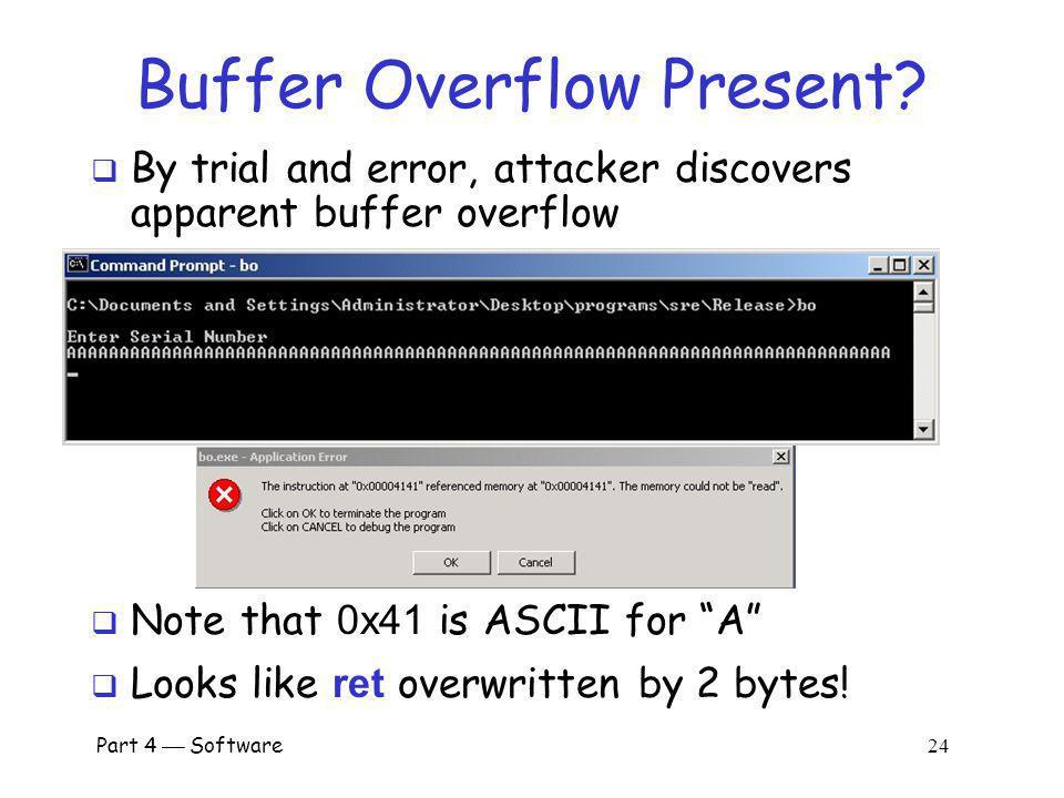 Buffer Overflow Present