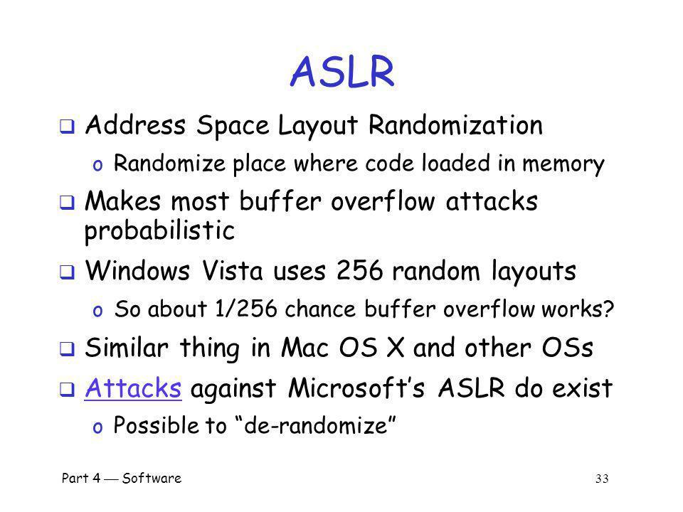 ASLR Address Space Layout Randomization