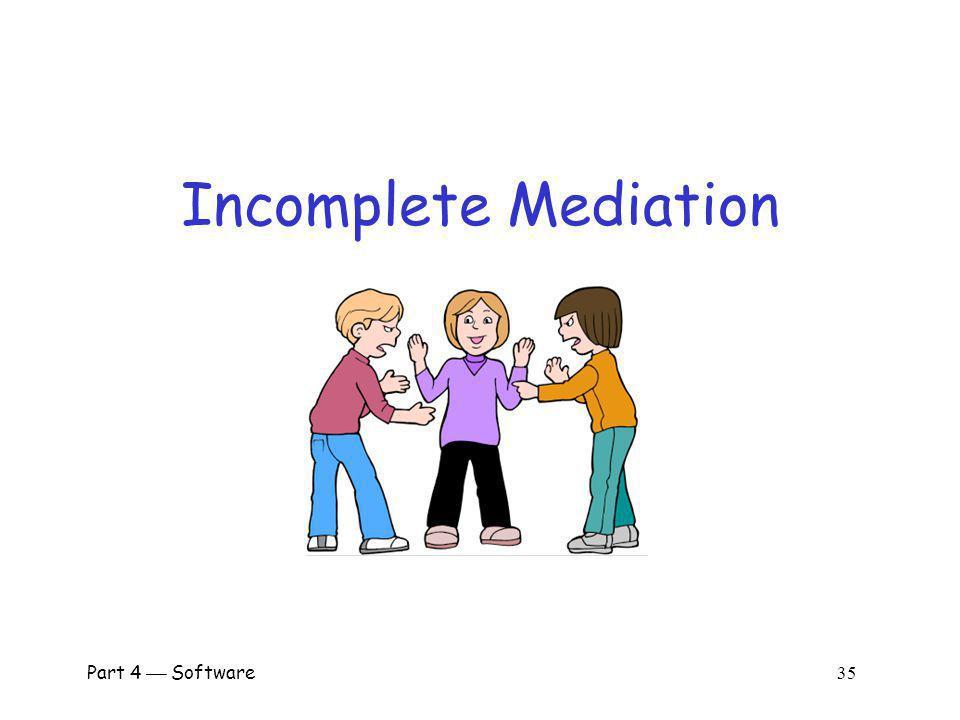 Incomplete Mediation Part 4  Software 35 Richter, Gerhard Mediation
