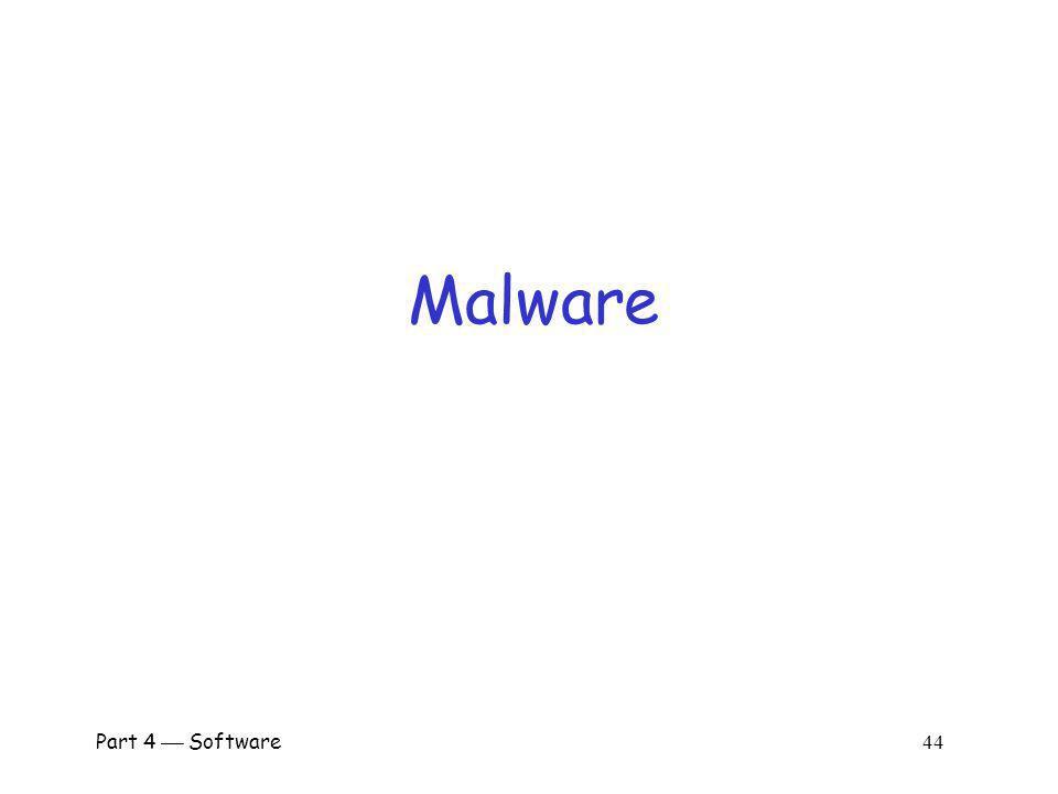 Malware Part 4  Software 44.
